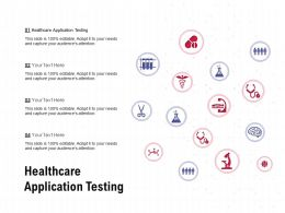 Healthcare Application Testing Ppt Powerpoint Presentation Portfolio Portrait