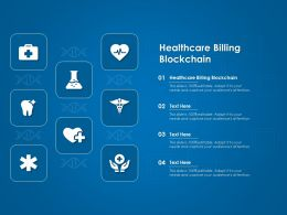 Healthcare Billing Blockchain Ppt Powerpoint Presentation Styles Example Introduction