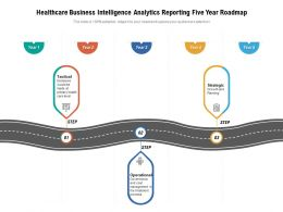 Healthcare Business Intelligence Analytics Reporting Five Year Roadmap