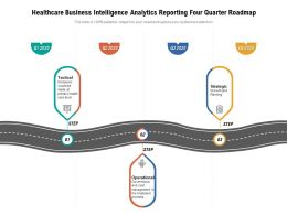 Healthcare Business Intelligence Analytics Reporting Four Quarter Roadmap