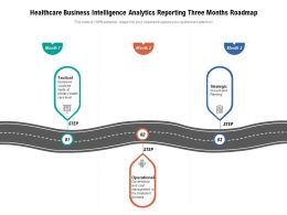 Healthcare Business Intelligence Analytics Reporting Three Months Roadmap