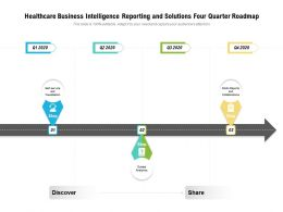 Healthcare Business Intelligence Reporting And Solutions Four Quarter Roadmap