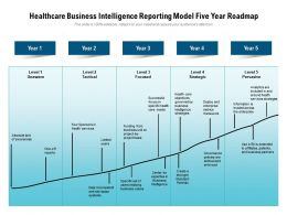 Healthcare Business Intelligence Reporting Model Five Year Roadmap