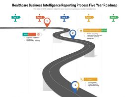 Healthcare Business Intelligence Reporting Process Five Year Roadmap