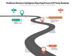 Healthcare Business Intelligence Reporting Process Half Yearly Roadmap