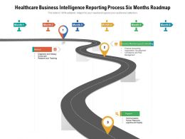 Healthcare Business Intelligence Reporting Process Six Months Roadmap