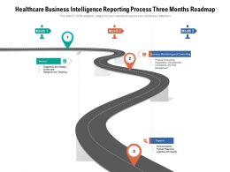 Healthcare Business Intelligence Reporting Process Three Months Roadmap