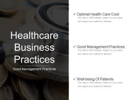 Healthcare Business Practices Presentation Powerpoint