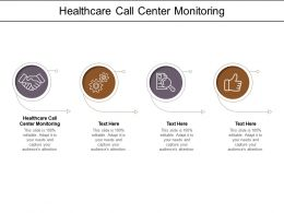Healthcare Call Center Monitoring Ppt Powerpoint Presentation File Model Cpb