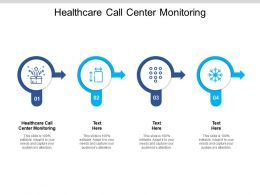 Healthcare Call Center Monitoring Ppt Powerpoint Presentation Infographics Backgrounds Cpb