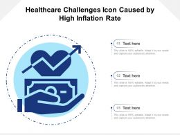 Healthcare Challenges Icon Caused By High Inflation Rate