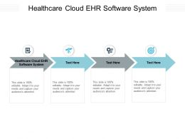 Healthcare Cloud EHR Software System Ppt Powerpoint Presentation Infographic Template Introduction Cpb