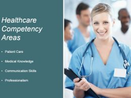 Healthcare Competency Areas Ppt Background