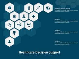 Healthcare Decision Support Ppt Powerpoint Presentation Show Deck