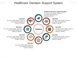 Healthcare Decision Support System Ppt Powerpoint Presentation Model Aids Cpb