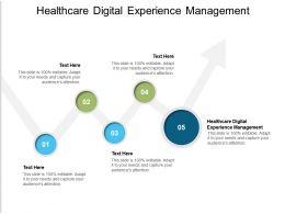 Healthcare Digital Experience Management Ppt Powerpoint Presentation Layouts Example File Cpb