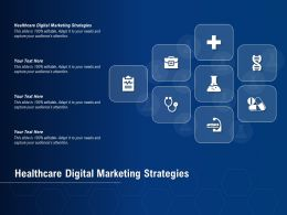 Healthcare Digital Marketing Strategies Ppt Powerpoint Presentation Show Outfit