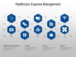 Healthcare Expense Management Ppt Powerpoint Presentation Model Show
