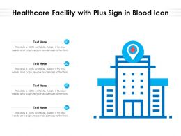 Healthcare Facility With Plus Sign In Blood Icon