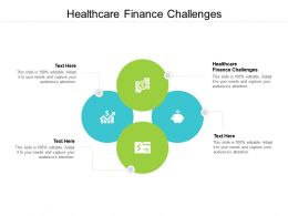 Healthcare Finance Challenges Ppt Powerpoint Presentation Infographic Template Information Cpb