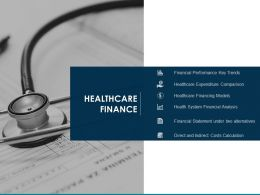 Healthcare Finance Financial Statement Alternatives Ppt Powerpoint Presentation Samples