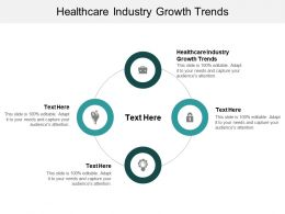 Healthcare Industry Growth Trends Ppt Powerpoint Presentation Outline Visuals Cpb