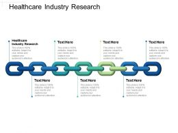 Healthcare Industry Research Ppt Powerpoint Presentation Show Icons Cpb