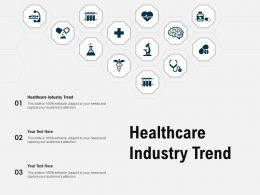 Healthcare Industry Trend Ppt Powerpoint Presentation Ideas Graphic Tips