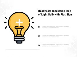 Healthcare Innovation Icon Of Light Bulb With Plus Sign