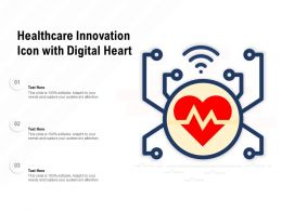 Healthcare Innovation Icon With Digital Heart
