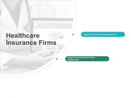 Healthcare Insurance Firms Plans Ppt Powerpoint Presentation Styles Aids