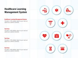 Healthcare Learning Management System Ppt Powerpoint Presentation Model