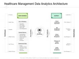 Healthcare Management Data Analytics Architecture Hospital Administration Ppt Infographics Ideas