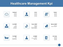 Healthcare Management Kpi Marketing Ppt Powerpoint Presentation Icon Aids