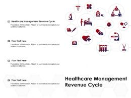 Healthcare Management Revenue Cycle Ppt Powerpoint Presentation Summary Designs Download