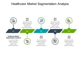Healthcare Market Segmentation Analysis Ppt Powerpoint Presentation Infographic Template Templates Cpb