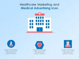 Healthcare Marketing And Medical Advertising Icon