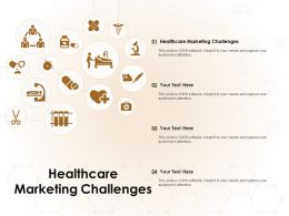Healthcare Marketing Challenges Ppt Powerpoint Presentation Visual Aids Icon