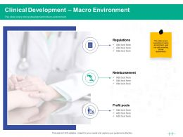 Healthcare Marketing Clinical Development Macro Environment Ppt Powerpoint Presentation Outline
