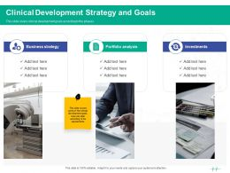 Healthcare Marketing Clinical Development Strategy And Goals Ppt Powerpoint Presentation Pictures