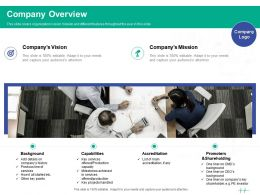 Healthcare Marketing Company Overview Ppt Powerpoint Presentation Gallery Graphics Pictures