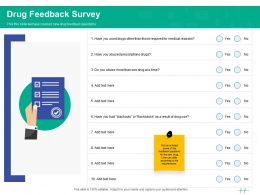 Healthcare Marketing Drug Feedback Survey Ppt Powerpoint Presentation Layouts Objects
