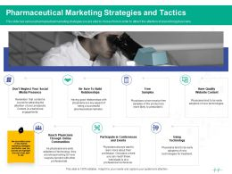 Healthcare Marketing Pharmaceutical Marketing Strategies And Tactics Ppt Powerpoint Template