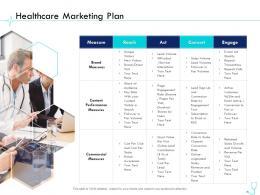 Healthcare Marketing Plan Pharma Company Management Ppt Clipart