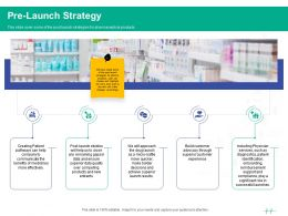 Healthcare Marketing Pre Launch Strategy Ppt Powerpoint Presentation Styles Example Introduction