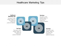 Healthcare Marketing Tips Ppt Powerpoint Presentation Icon Format Cpb