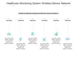 Healthcare Monitoring System Wireless Sensor Network Ppt Powerpoint Presentation Layouts Slideshow Cpb