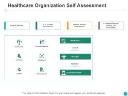 Healthcare Organization Self Assessment Process Ppt Powerpoint Presentation Outline Ideas