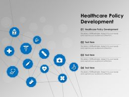 Healthcare Policy Development Ppt Powerpoint Presentation Slides Maker