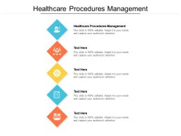 Healthcare Procedures Management Ppt Powerpoint Presentation Icon Cpb